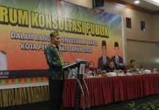 Bappeda Laksanakan Forum Konsultasi Publik  RKPD Kota Pekanbaru Tahun 2021